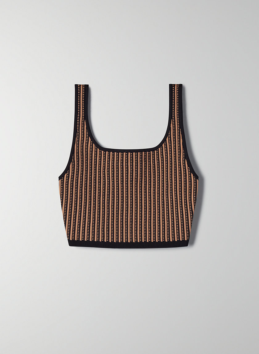 SCULPT KNIT TANK (ARJUN KNIT TOP)