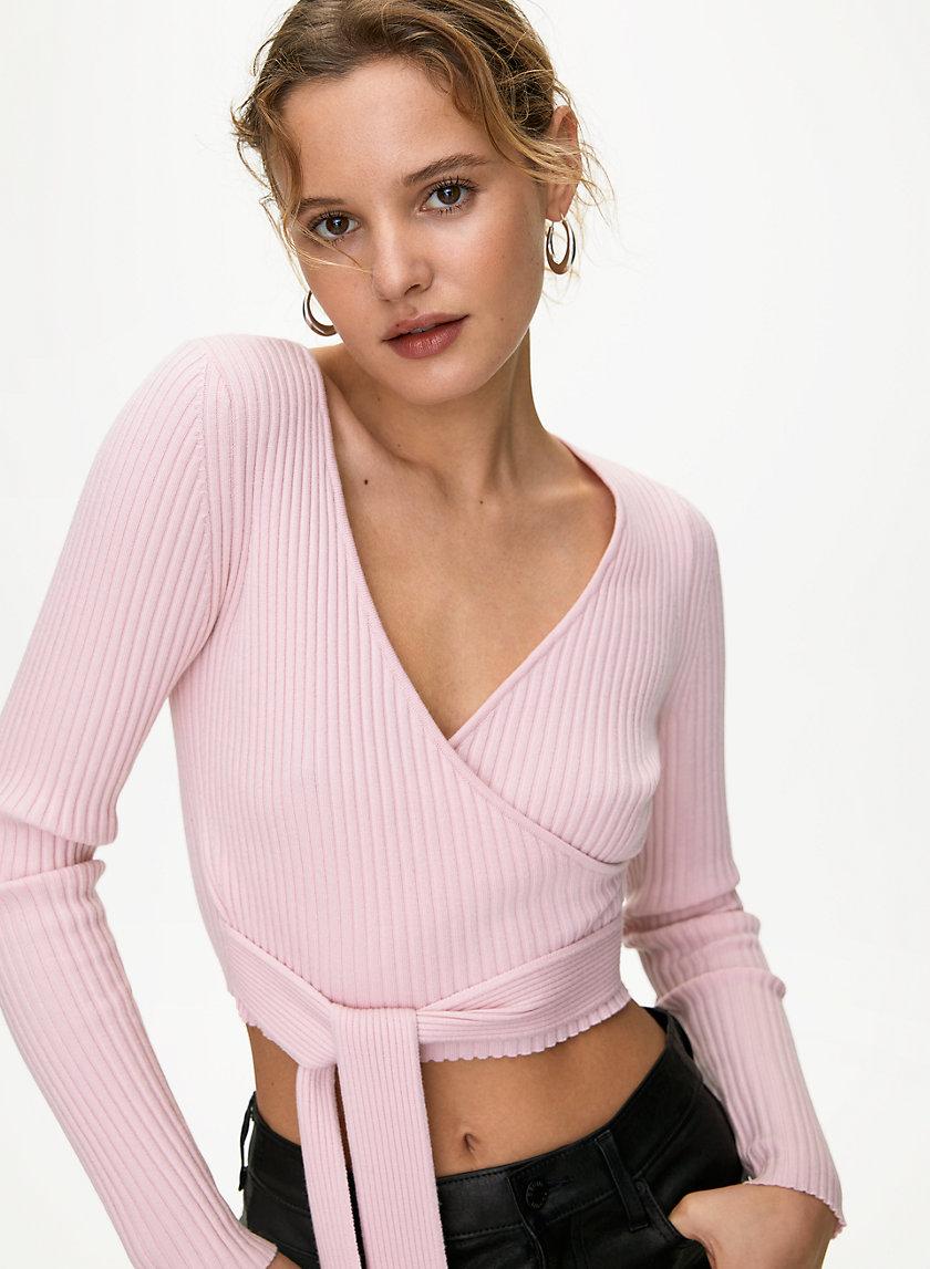 ROMEO SWEATER - Cropped wrap sweater