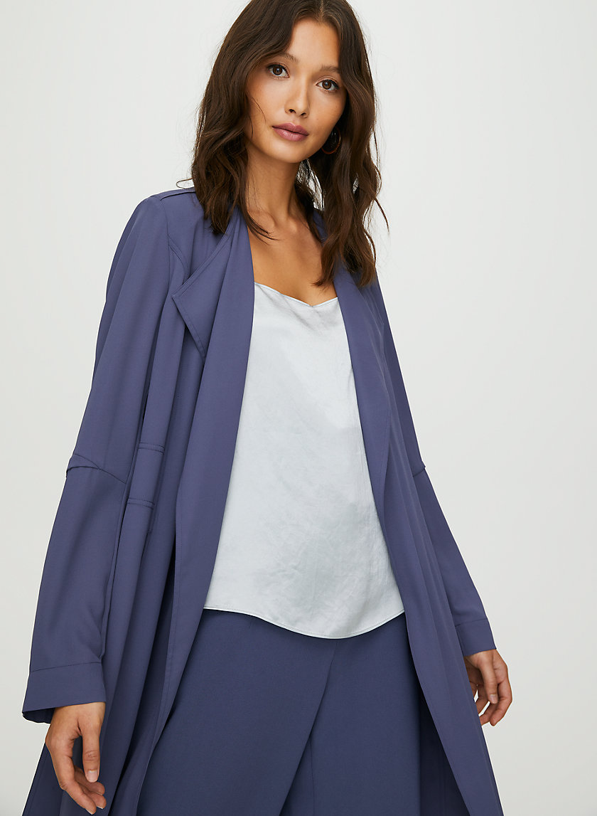 QUINCEY JACKET - Flowy modern trench coat