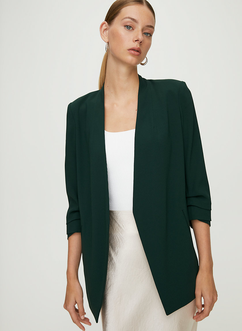 POWER BLAZER - 3/4 rolled sleeve blazer