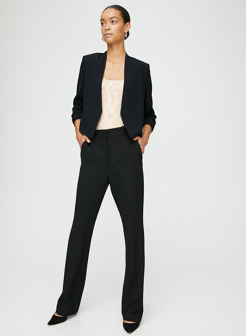 MACAULEY SHORT BLAZER - Cropped, 3/4 rolled sleeve blazer