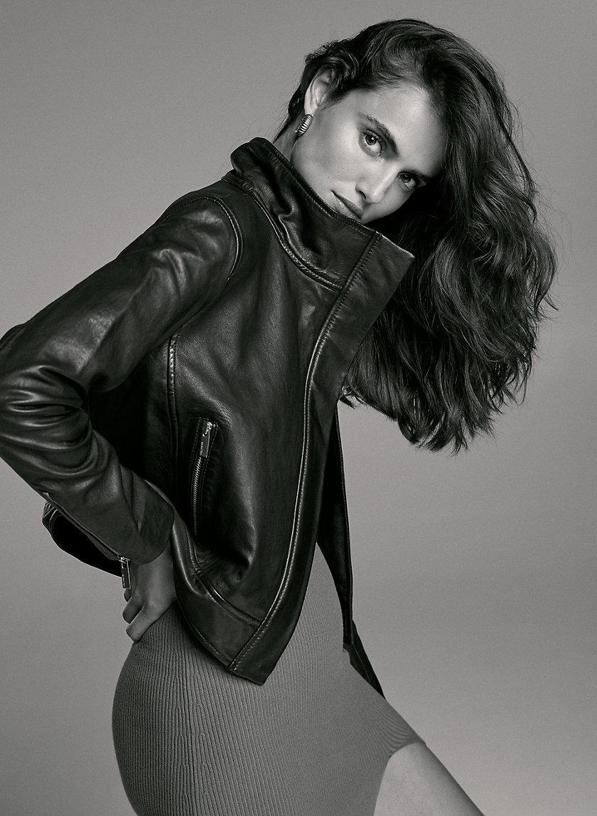 JAGGER LEATHER MOTO - Leather moto jacket