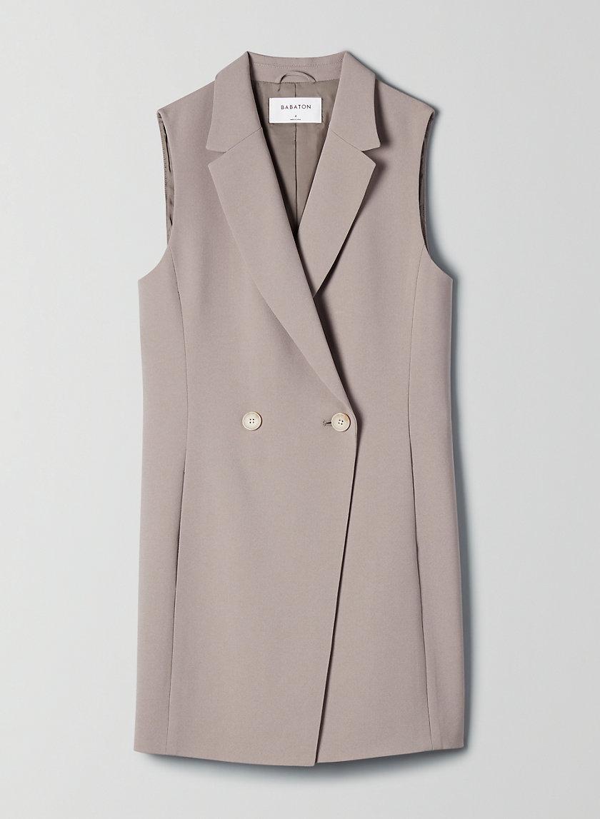 BLAZER VEST - Long double-breasted vest