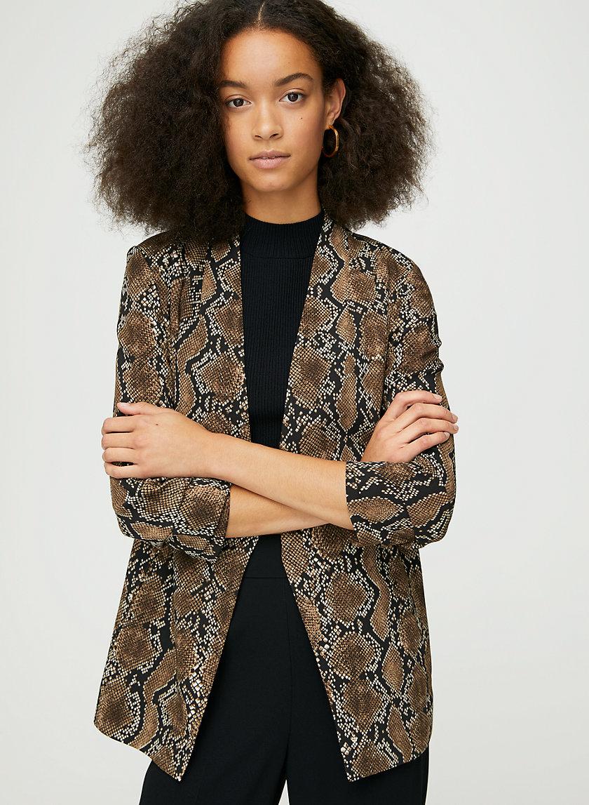 POWER BLAZER - Snake-print blazer