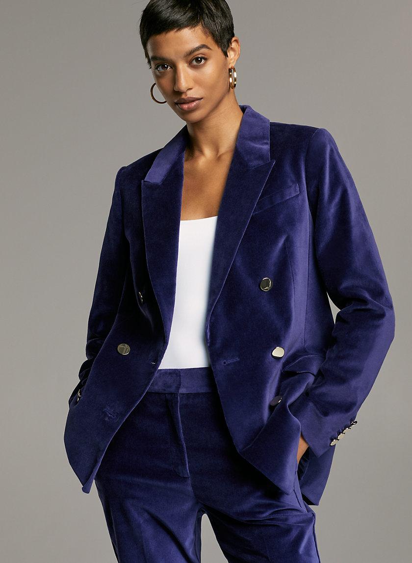 SAMUEL VELVET BLAZER - Double-breasted velvet blazer