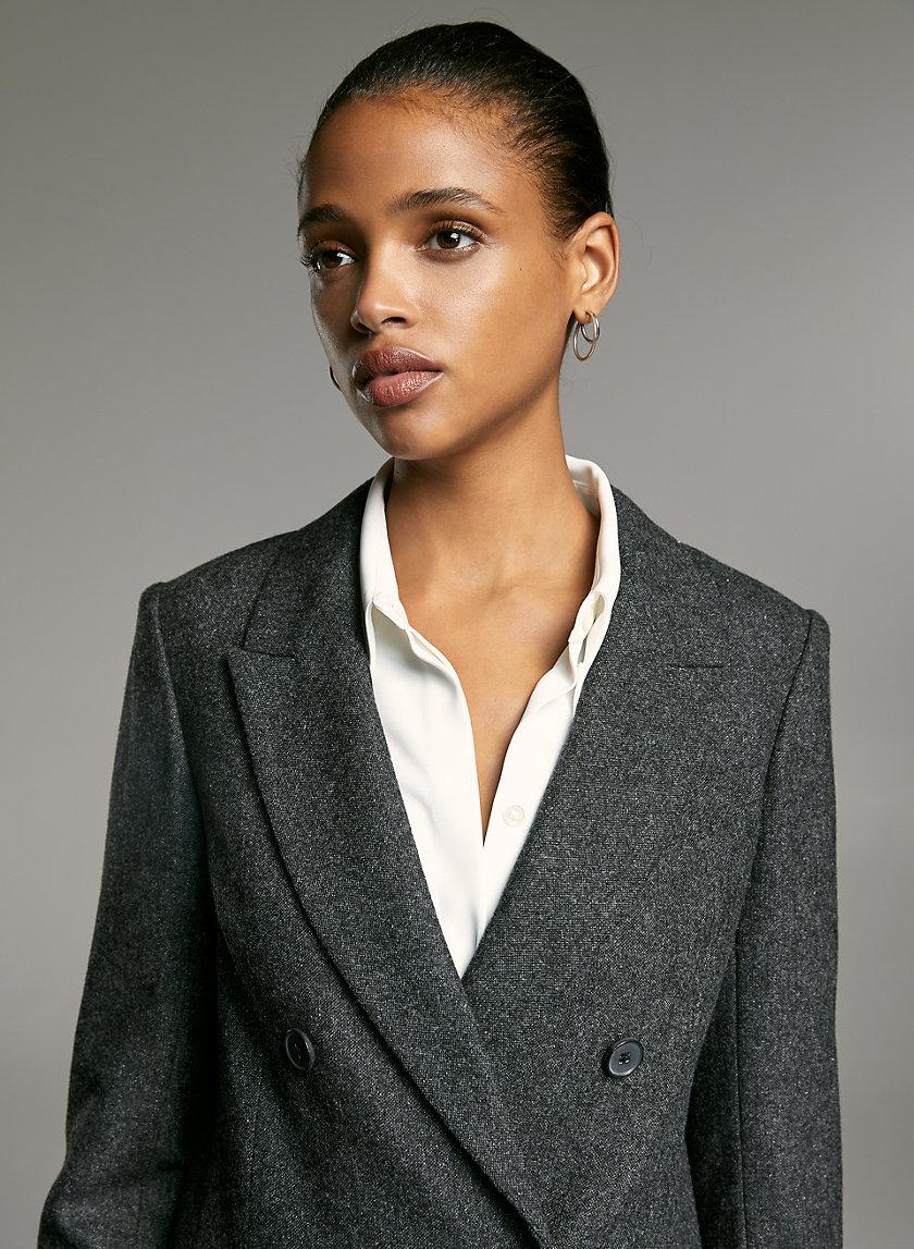 SAMUEL BLAZER - Wool double-breasted blazer