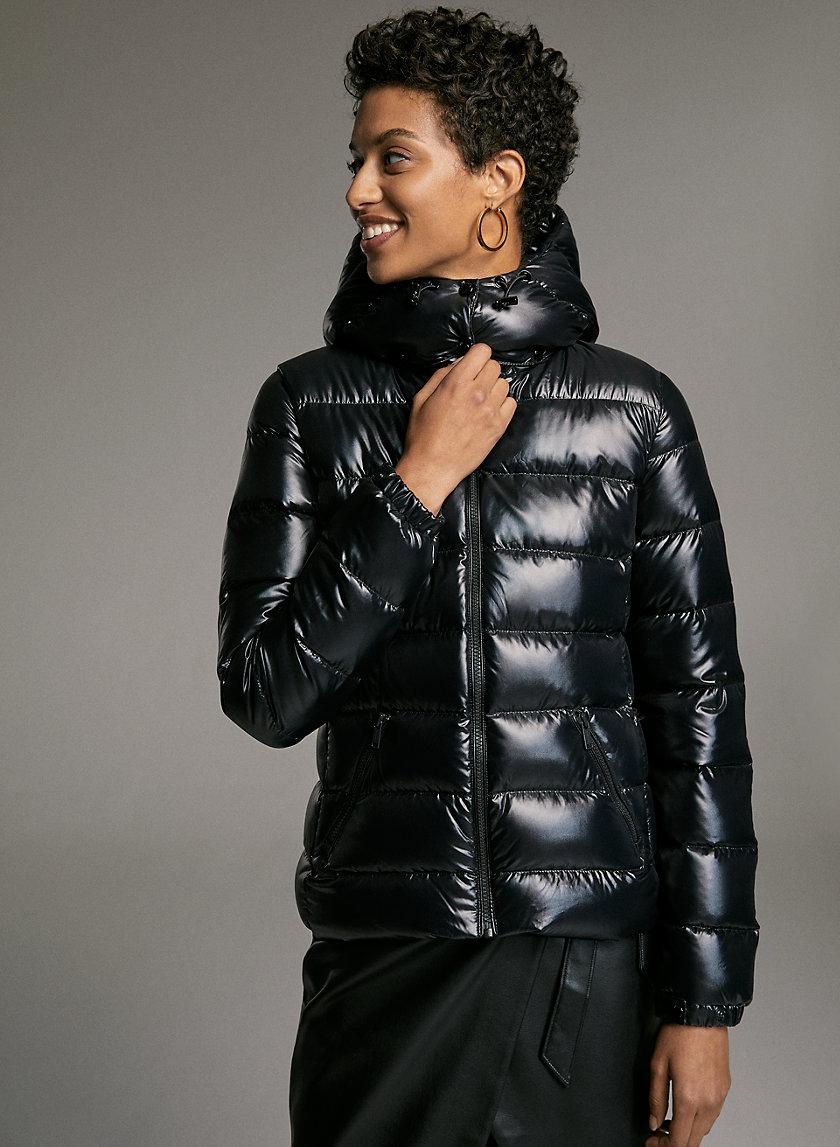 HUDSON PUFFER - Shiny, goose-down puffer jacket