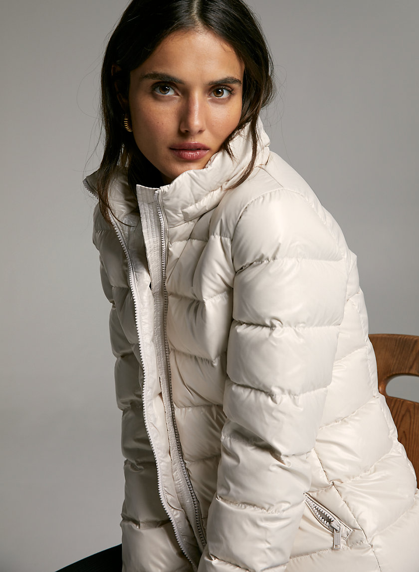 HUDSON PUFFER - Shiny, goose-down puffer jacket