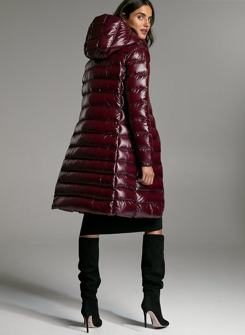 HUDSON PUFFER LONG - Shiny, goose-down puffer jacket