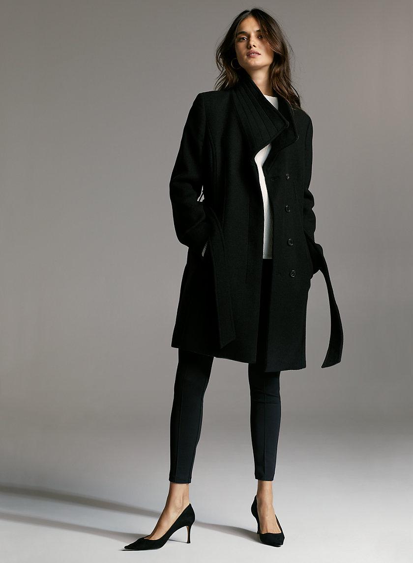 CONNOR WOOL COAT - Mid-length, belted, virgin-wool coat