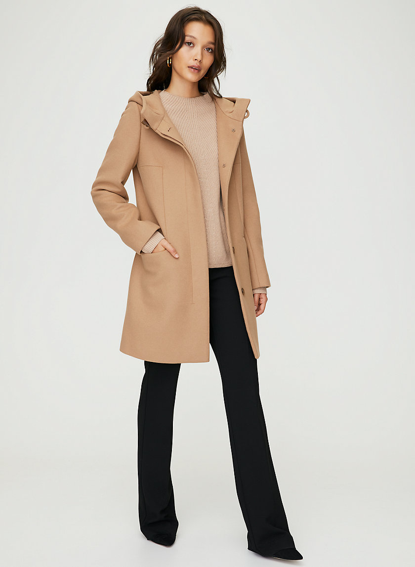 PEARCE WOOL COAT - Hooded, wool-cashmere coat