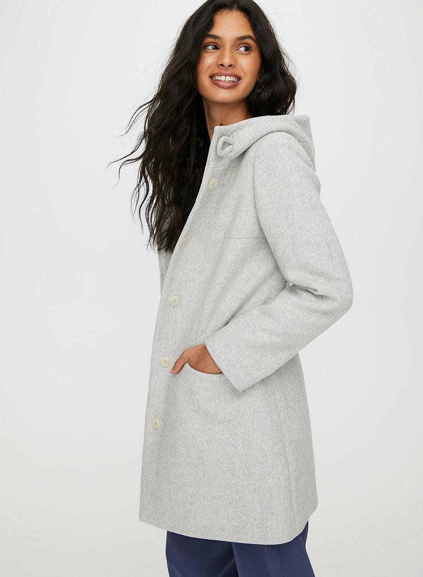 PEARCE WOOL COAT - Hooded, wool-cashmere coat