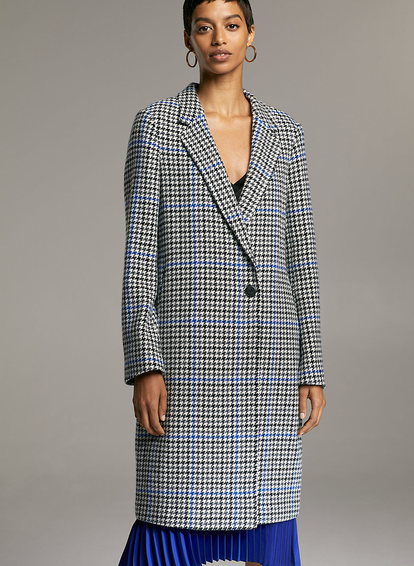 STEDMAN COAT - Single-breasted minimalist wool coat