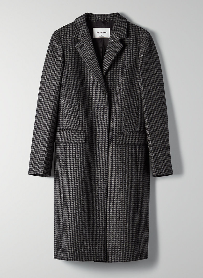 HARTFORD WOOL COAT - Classic houndstooth wool coat