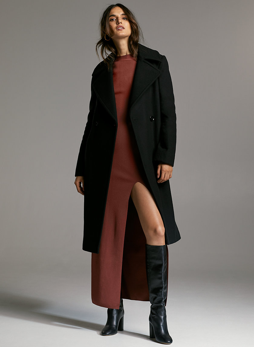 BENTON WOOL COAT - A-line wool dress coat