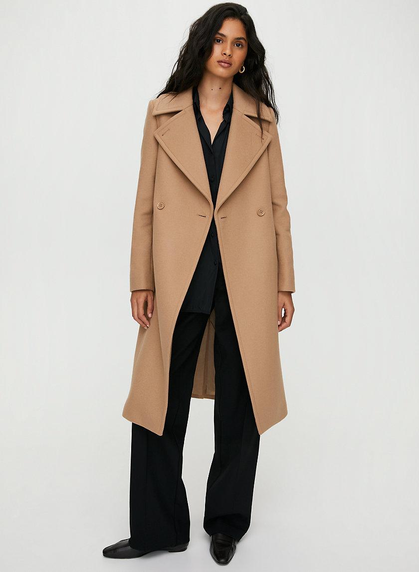 BENTON WOOL COAT - A-line wool dress coat