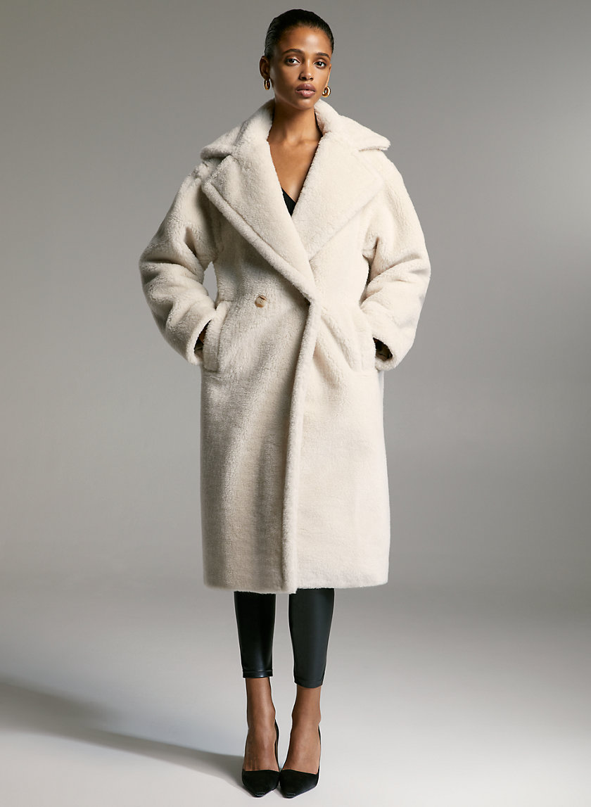 TOWNSEND TEDDY COAT - Long, wool teddy coat