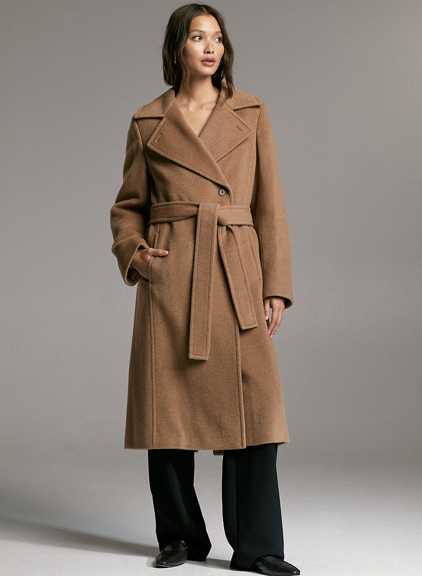 BELMONTE CAMEL COAT - Camel hair wool coat
