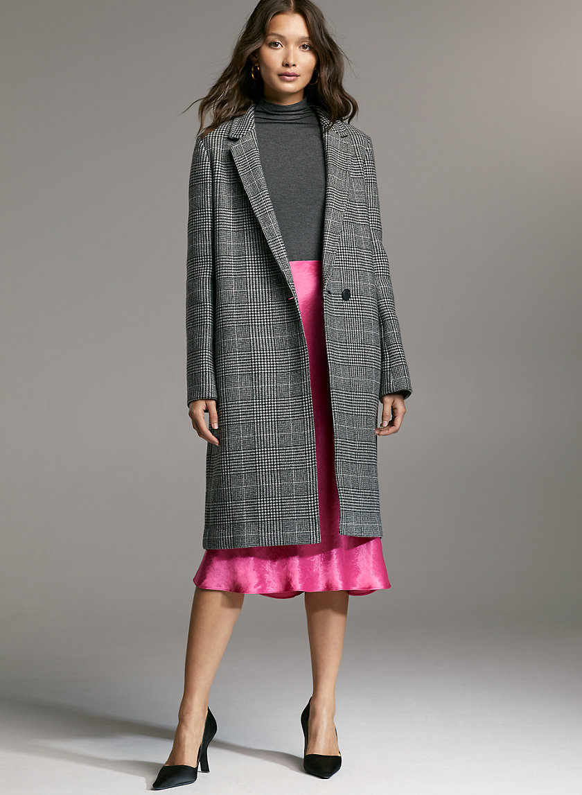 STEDMAN WOOL COAT - Checkered wool-blend coat