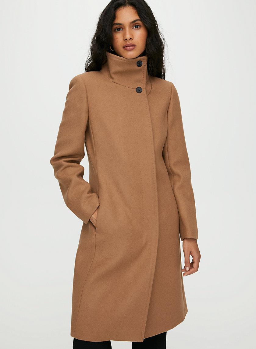 WALTON WOOL COAT - Funnel-neck wool coat