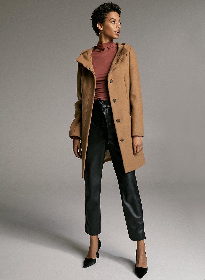 PEARCE WOOL COAT - Hooded wool-cashmere coat