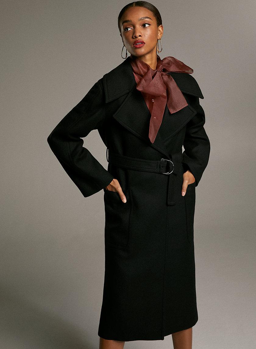 BARTON WOOL COAT - Italian wool wrap coat