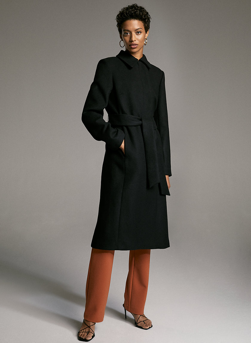 ACHESON WOOL COAT - Long wool wrap coat