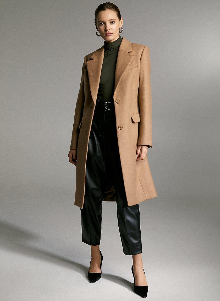 DAVENPORT WOOL COAT - Long single-breasted wool coat