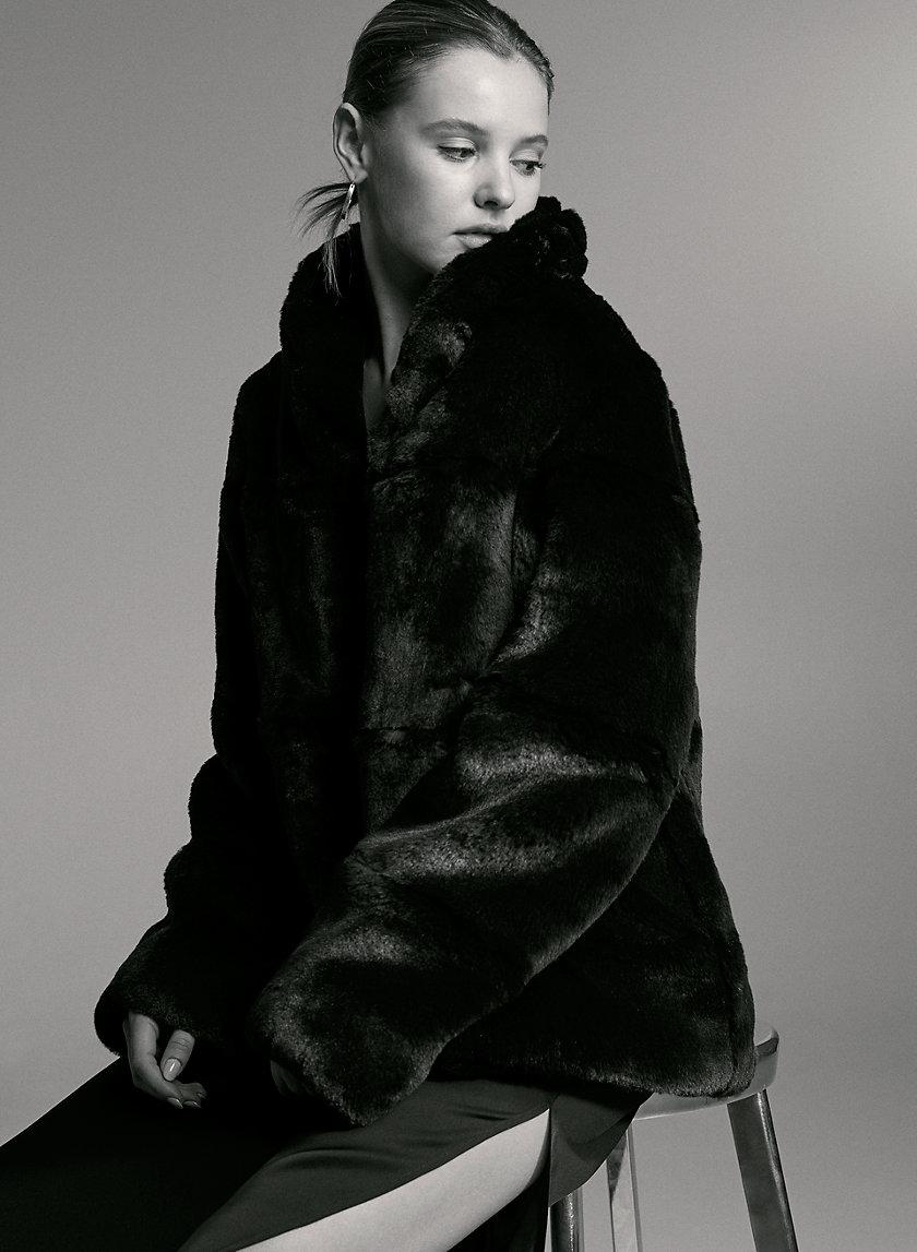 VANDELAY FAUX FUR COAT - Faux-fur coat