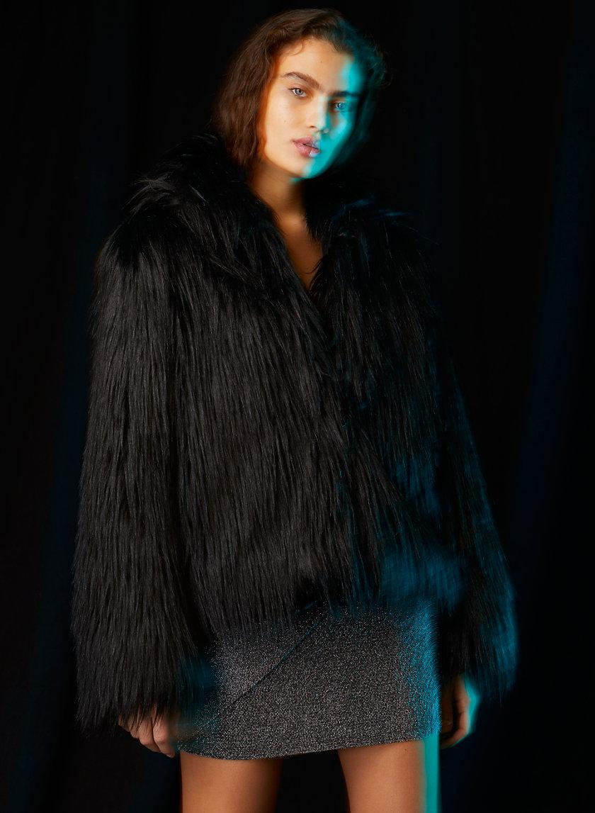 KUMA FAUX FUR COAT - Short faux fur coat