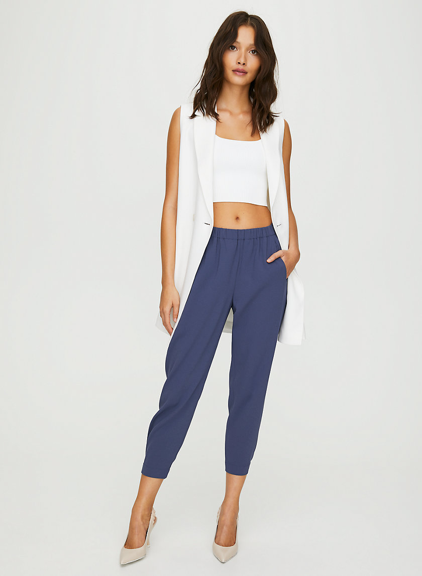 DEXTER PANT TERADO - Cropped, crepe dress pants