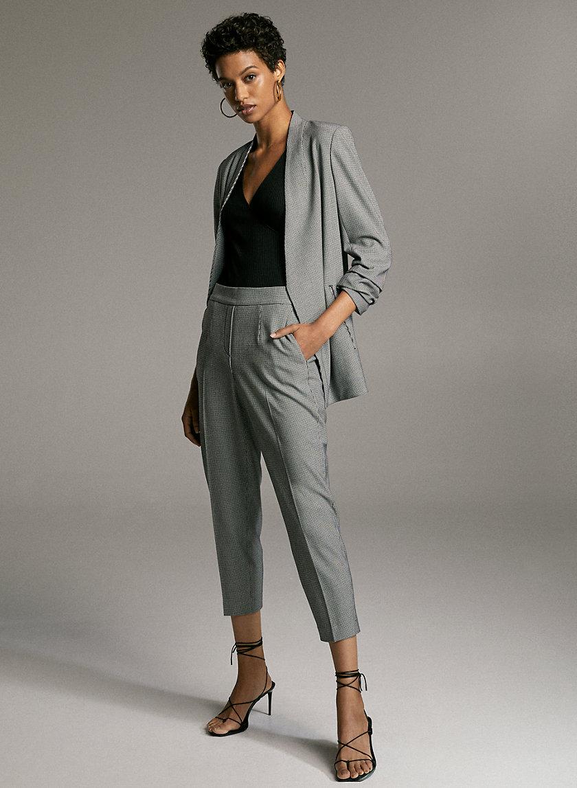 CONAN CHECK PANT - Plaid cropped dress pant
