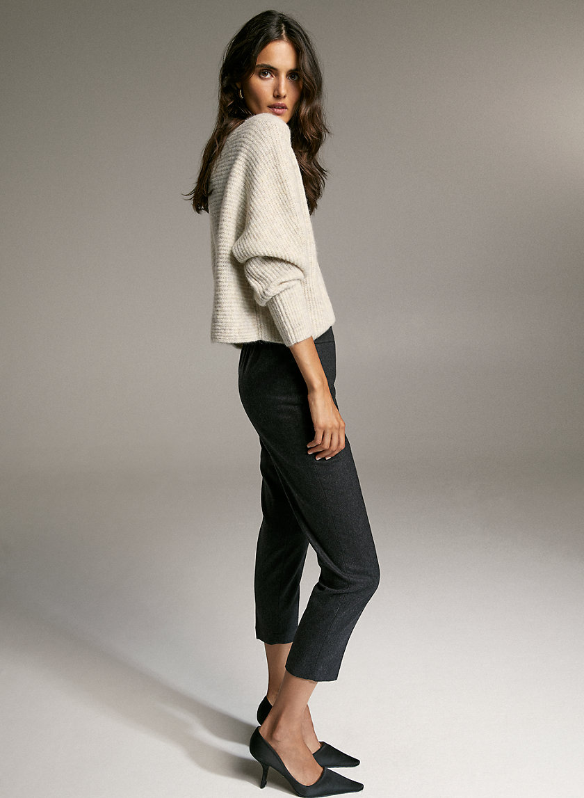 CONAN WOOL CASHMERE PANT - Cropped dress pant