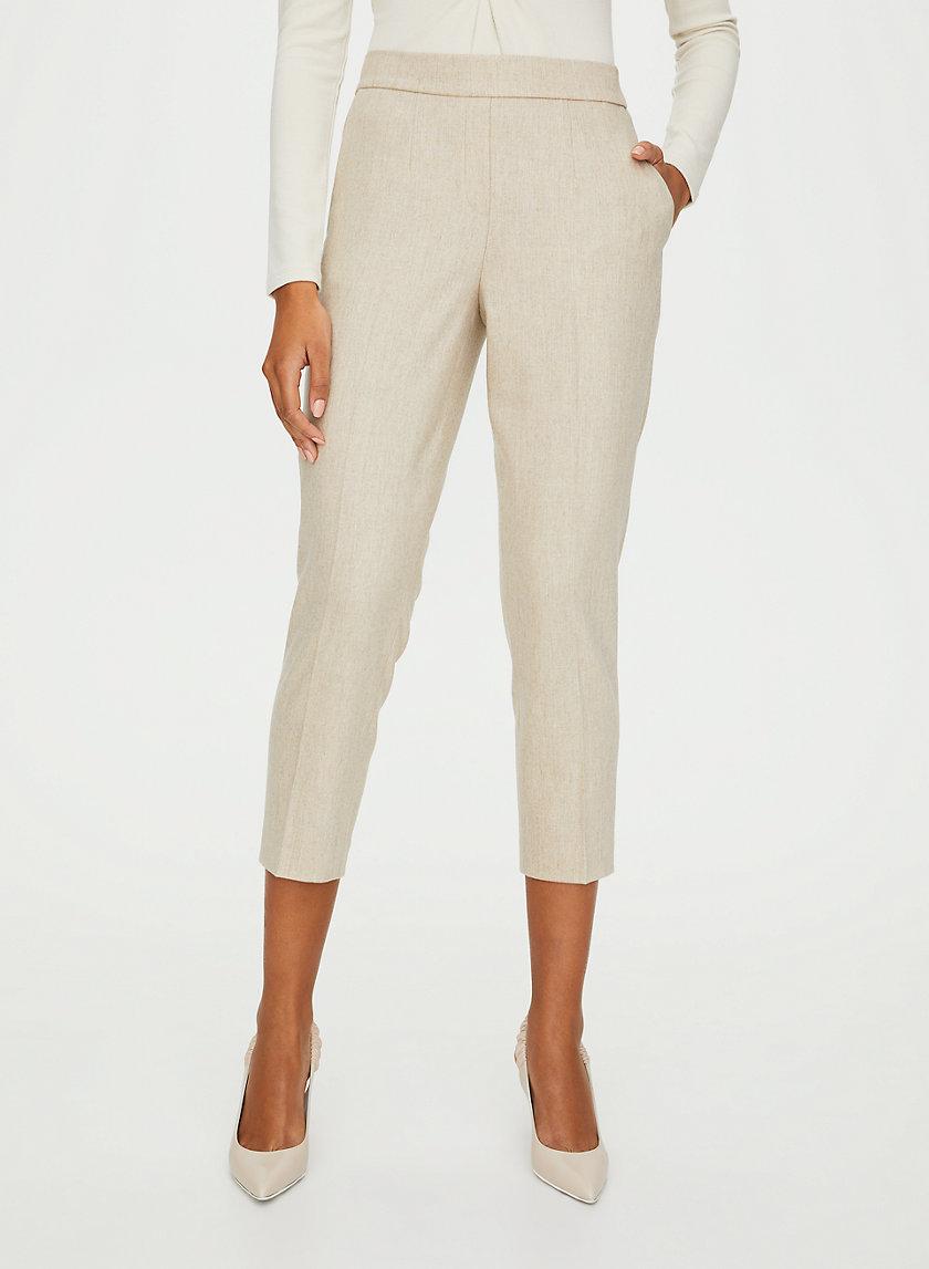 CONAN WOOL CASHMERE PANT - Cropped dress pant