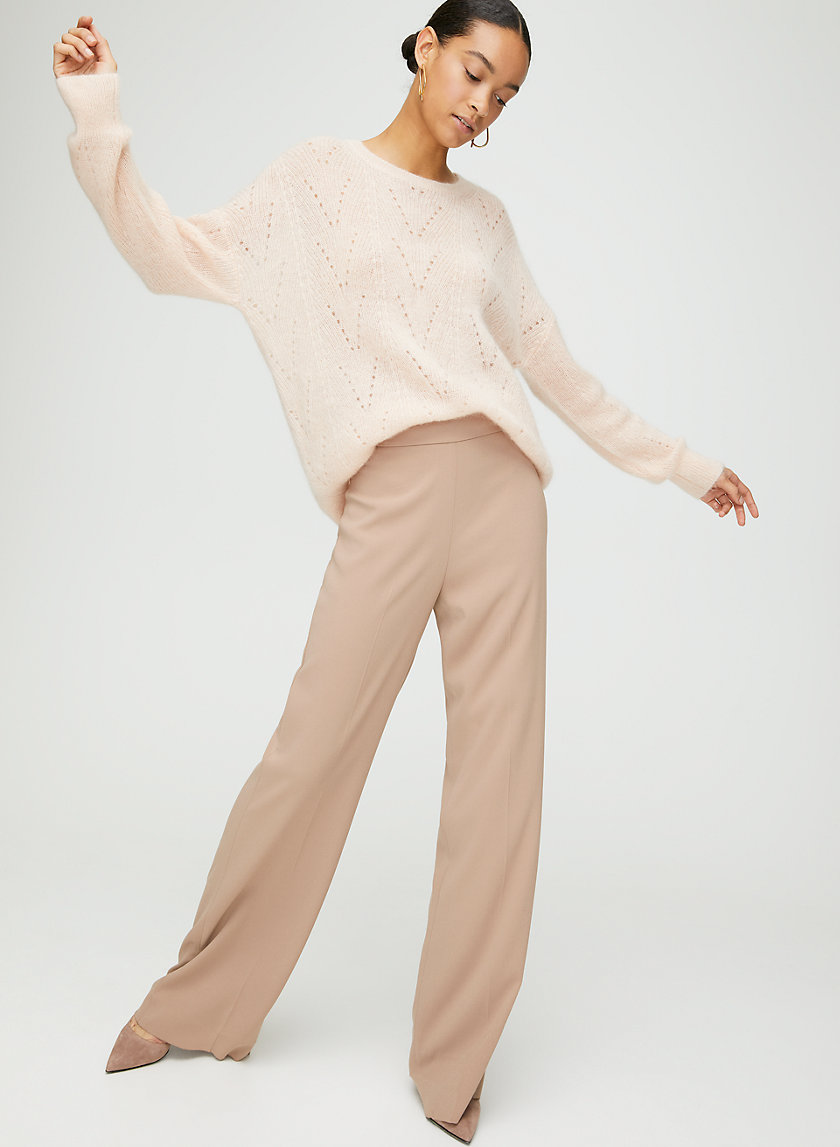LINCOLN PANT - High-waisted, wide-leg dress pant