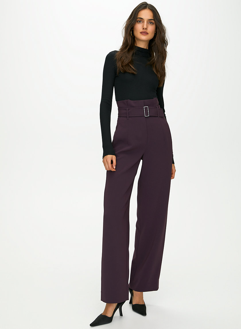 POWER PANT - High-waisted belted pant