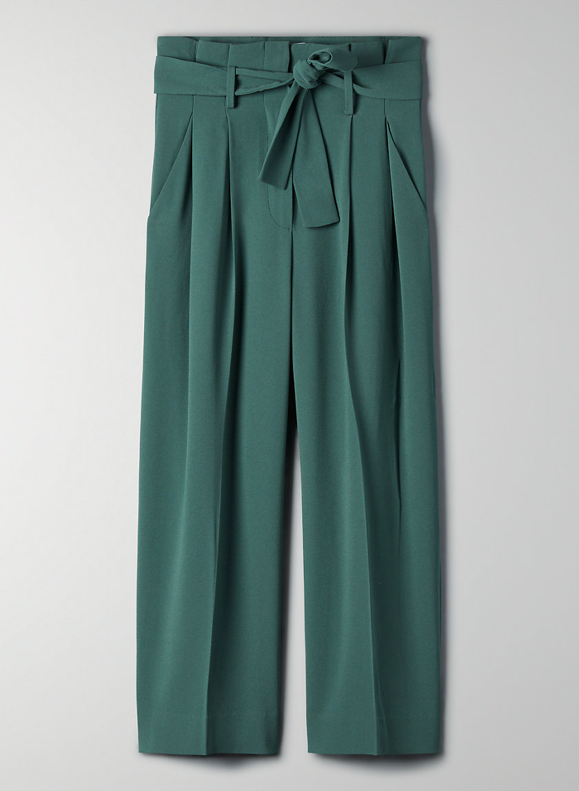 CULOTTE PANT - High-waisted tie-front culottes