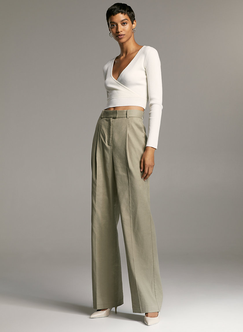 SADIKI LINEN PANT - Wide-leg linen trouser