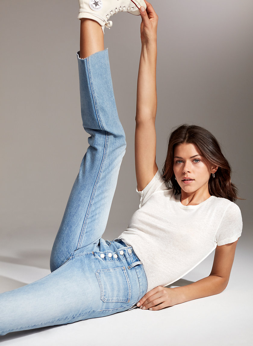 THE BAILEY PATCH - High-waisted, cropped flared jean
