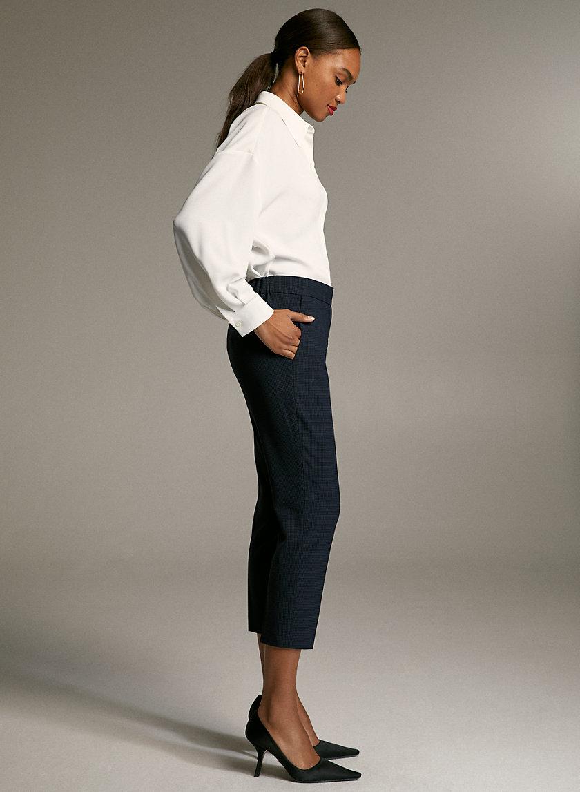 CONAN CHECK PANT - Cropped, plaid dress pant