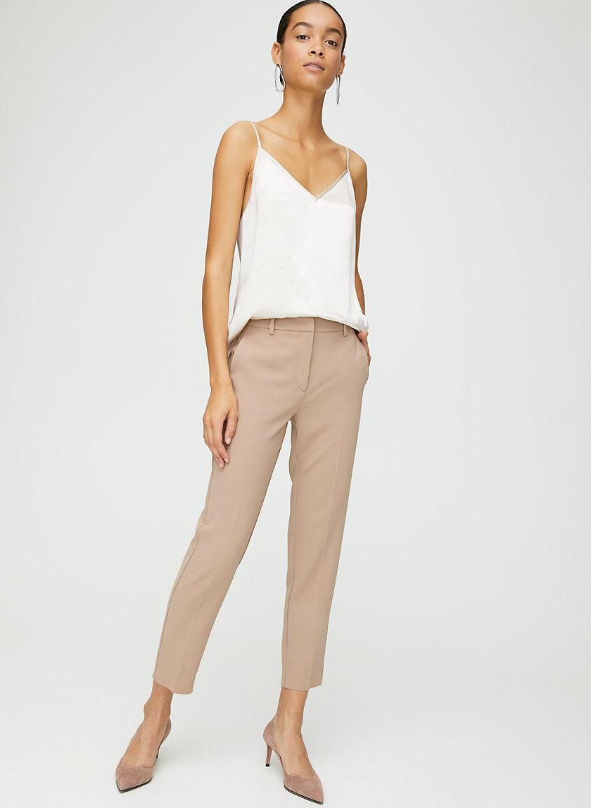 QUENTIN PANT - Mid-rise slim-leg trousers