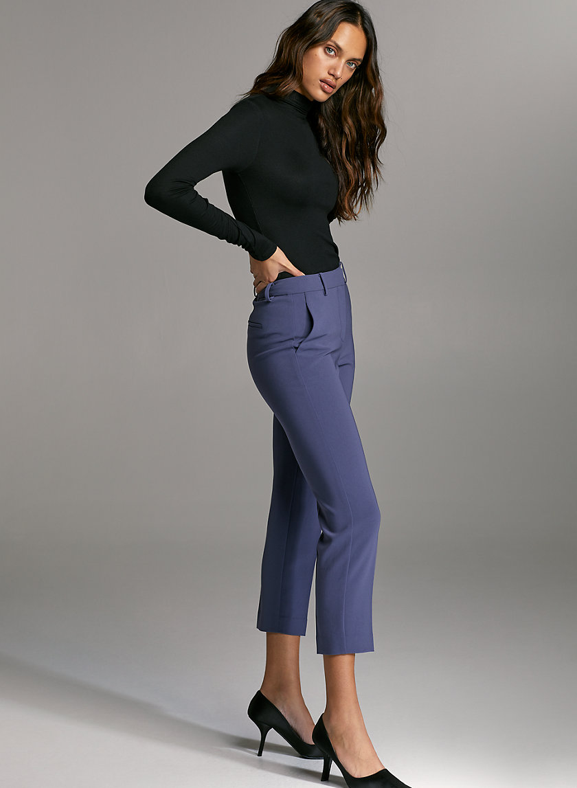 QUENTIN PANT - Mid-rise slim-leg trousers