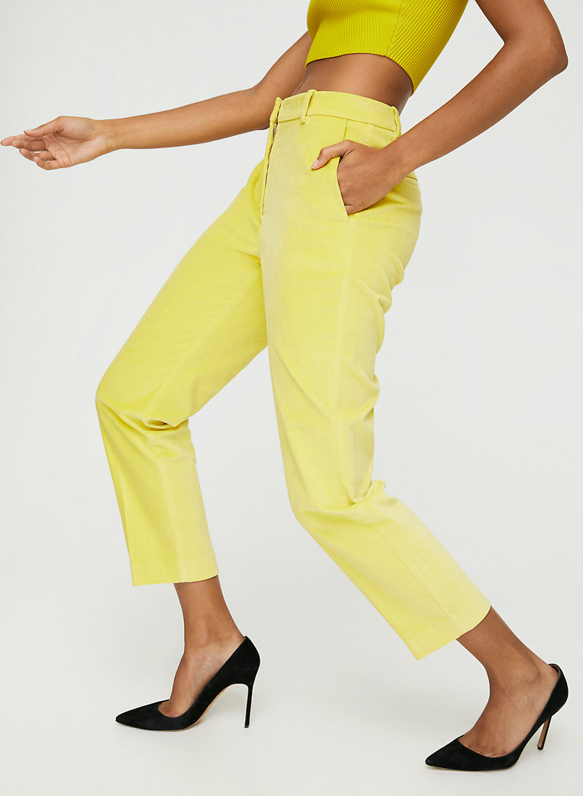 WYATT VELVET PANT - Skinny velvet trousers