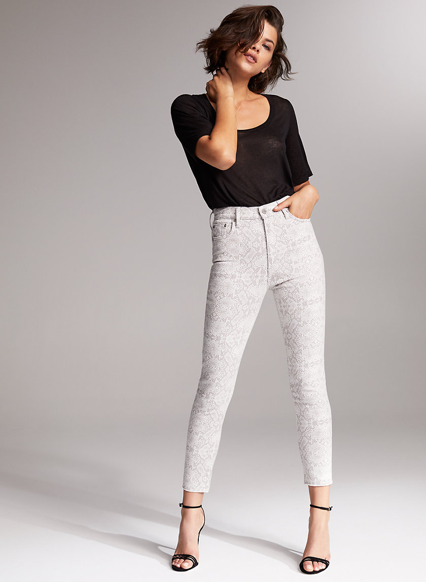 THE LOLA HIGH CROP - High-waisted skinny jean