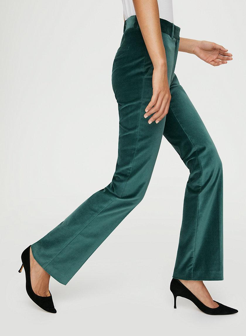 BRADEN VELVET PANT - High-waisted velvet pants