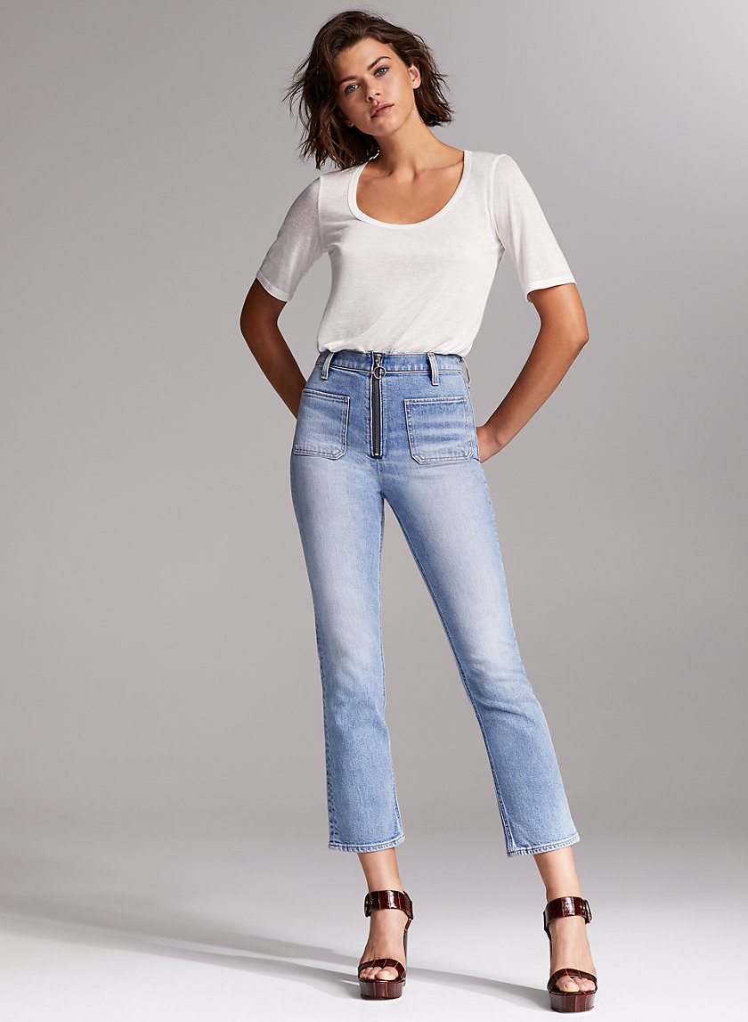 THE JUST PEACHY STRAIGHT - High-waisted straight leg jean