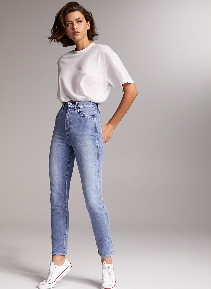 THE ANJELICA SLIM - High-waisted cigarette jean