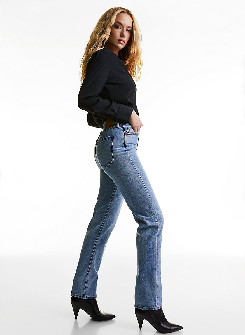 THE NINA STOVEPIPE - High-waisted straight leg jean