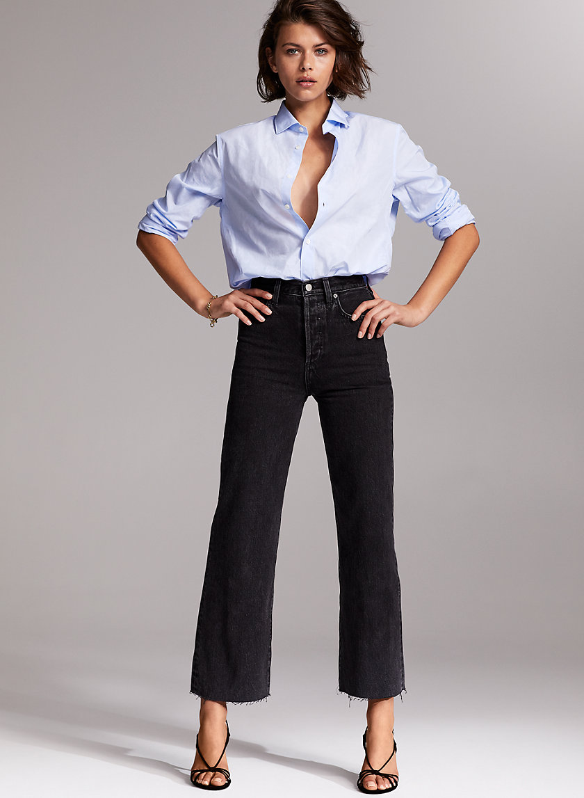 THE FARRAH WIDE LEG - High-waisted wide-leg jean