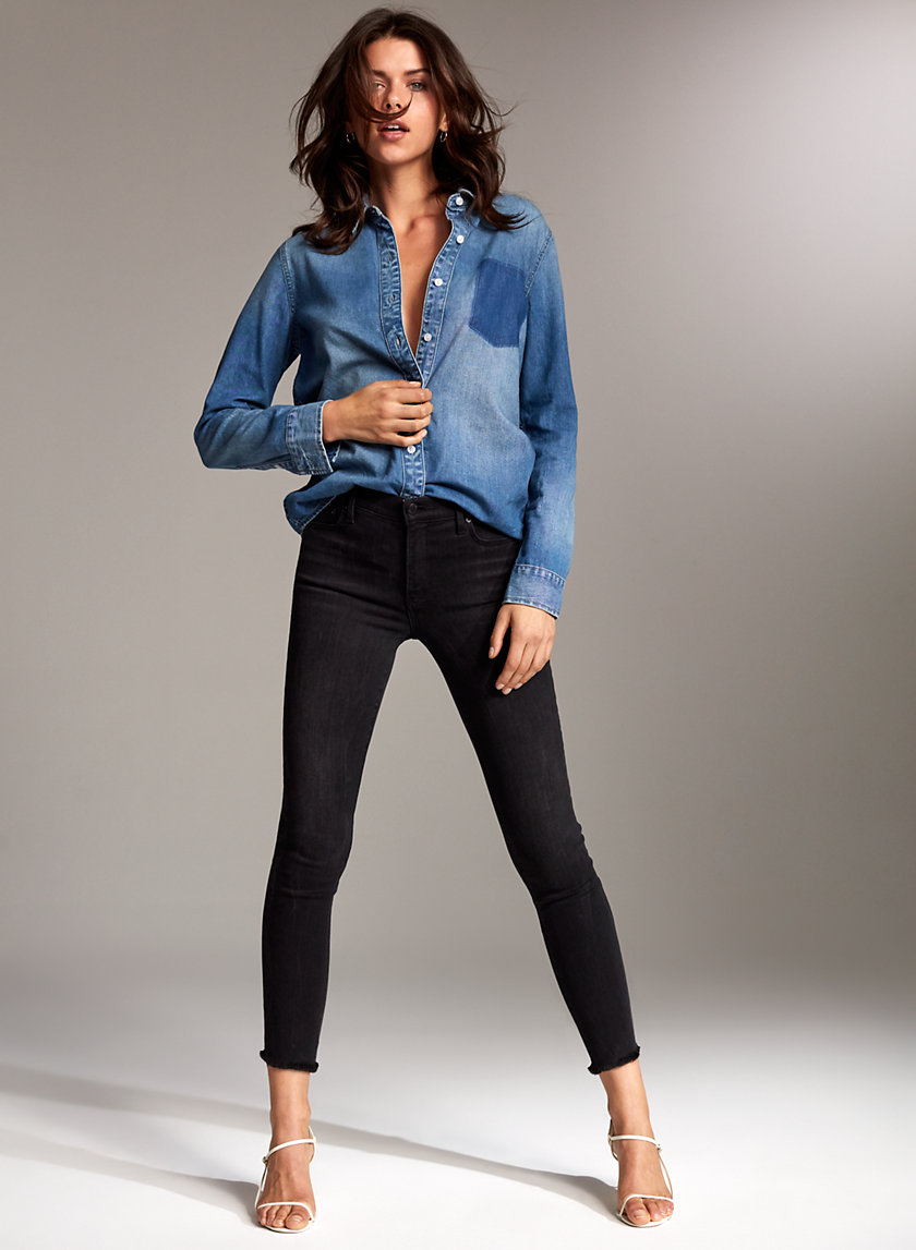 THE NICO MID CROP - Cropped mid-rise jean